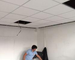 Atout Concept - Ostwald - Rénovation - Pose d'un faux plafond après dégâts des eaux